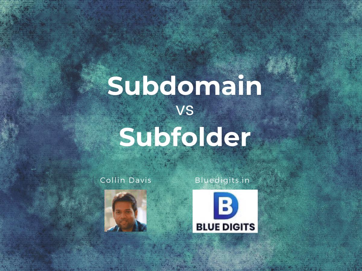 Subdomain vs Subfolder